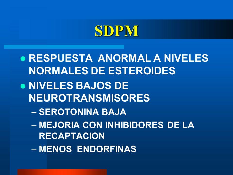 SDPM RESPUESTA ANORMAL A NIVELES NORMALES DE ESTEROIDES