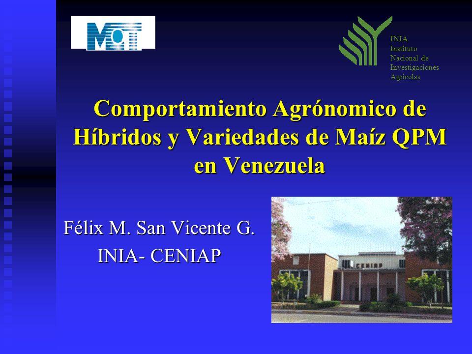 Félix M. San Vicente G. INIA- CENIAP