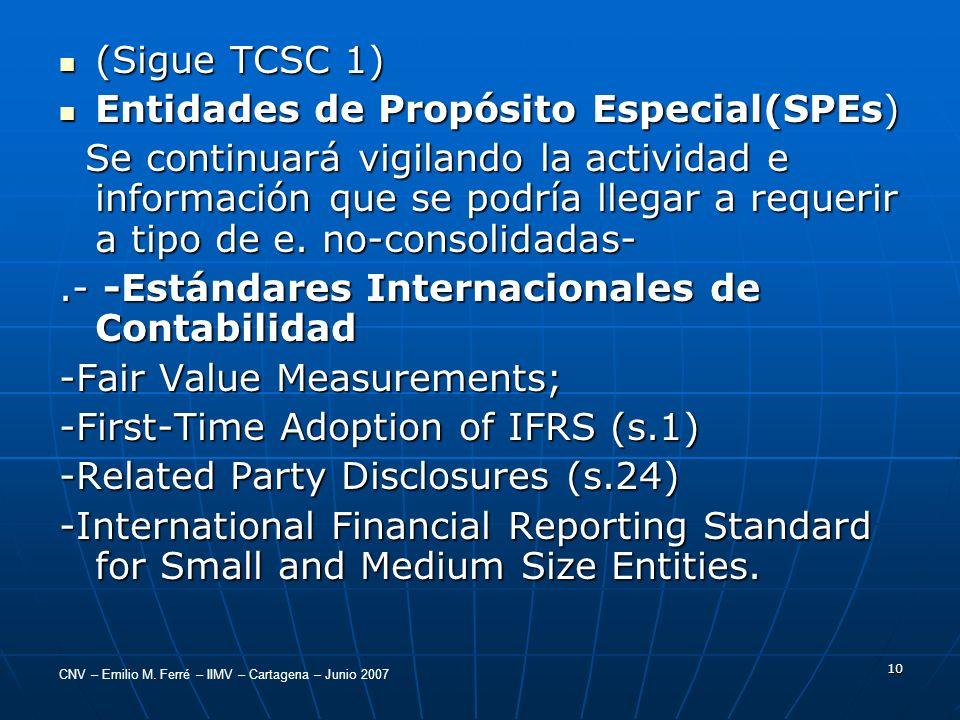 (Sigue TCSC 1) Entidades de Propósito Especial(SPEs)