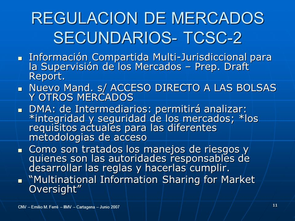 REGULACION DE MERCADOS SECUNDARIOS- TCSC-2