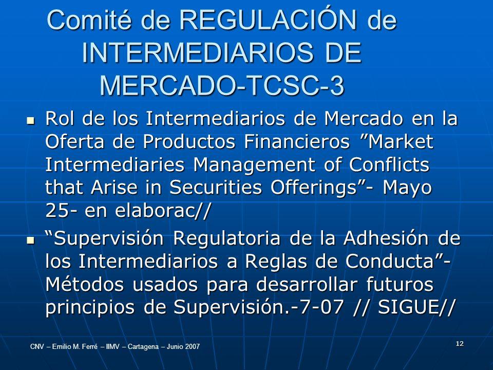 Comité de REGULACIÓN de INTERMEDIARIOS DE MERCADO-TCSC-3
