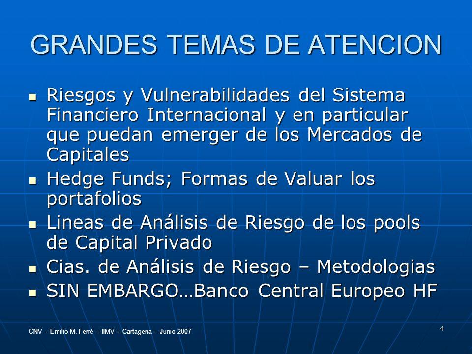 GRANDES TEMAS DE ATENCION
