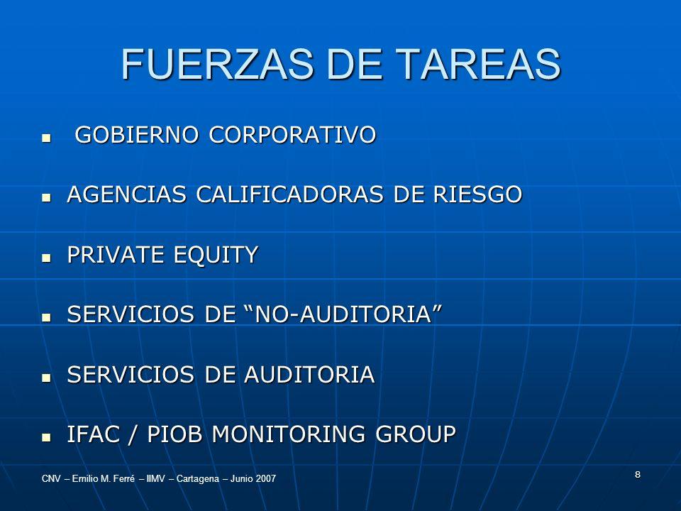 FUERZAS DE TAREAS GOBIERNO CORPORATIVO