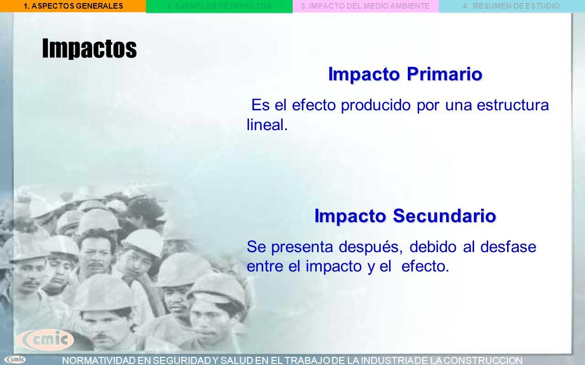 Impactos Impacto Primario Impacto Secundario