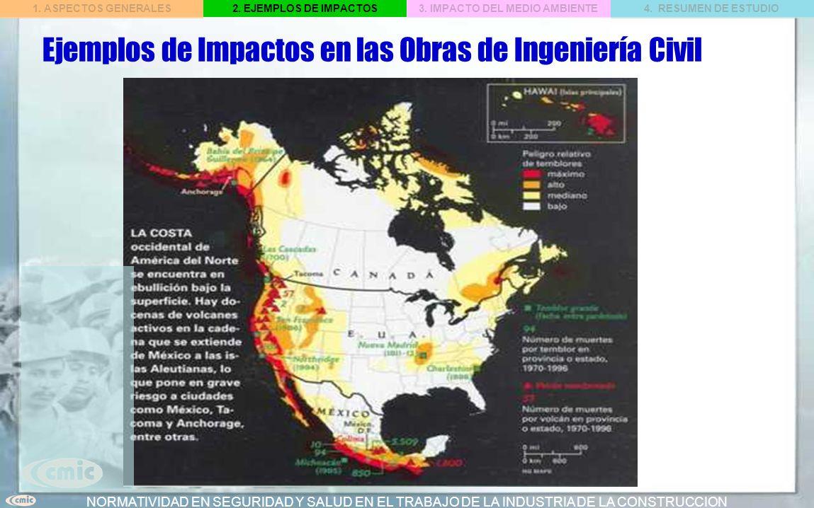 Ejemplos de Impactos en las Obras de Ingeniería Civil