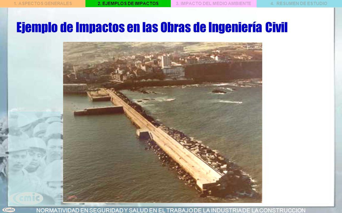Ejemplo de Impactos en las Obras de Ingeniería Civil