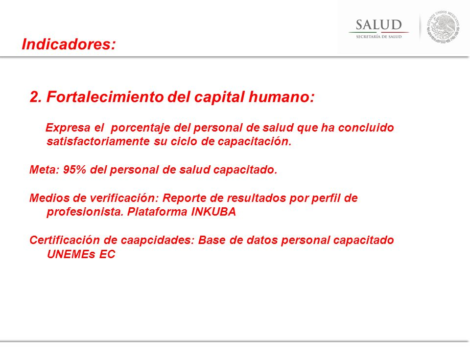 2. Fortalecimiento del capital humano: