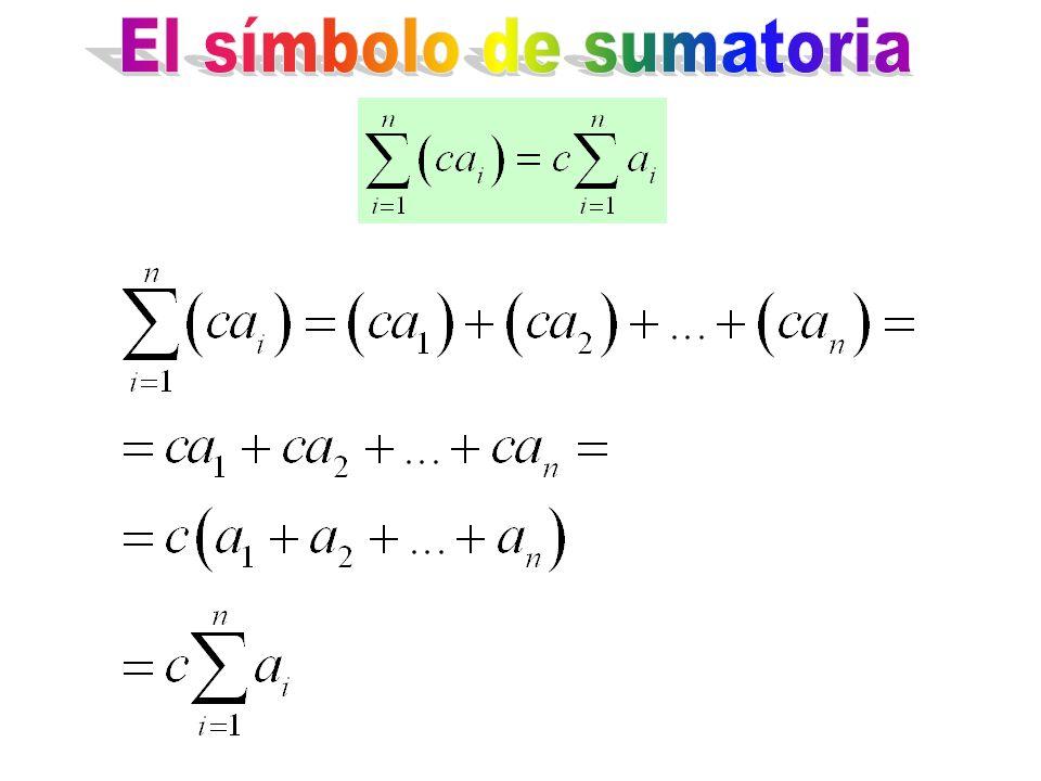 El símbolo de sumatoria