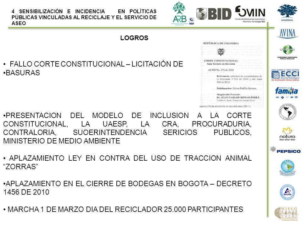 FALLO CORTE CONSTITUCIONAL – LICITACIÓN DE BASURAS
