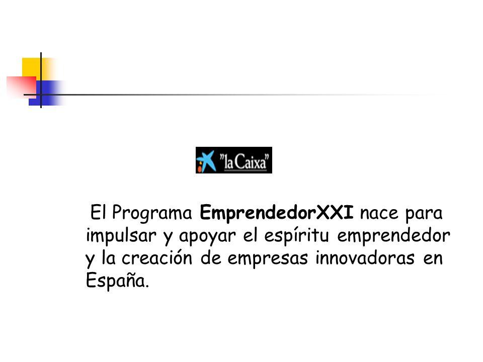 El Programa EmprendedorXXI nace para impulsar y apoyar el espíritu emprendedor y la creación de empresas innovadoras en España.