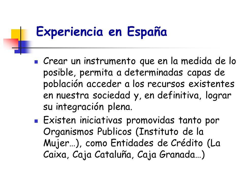 Experiencia en España