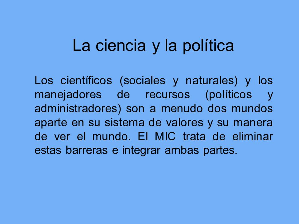 La ciencia y la política