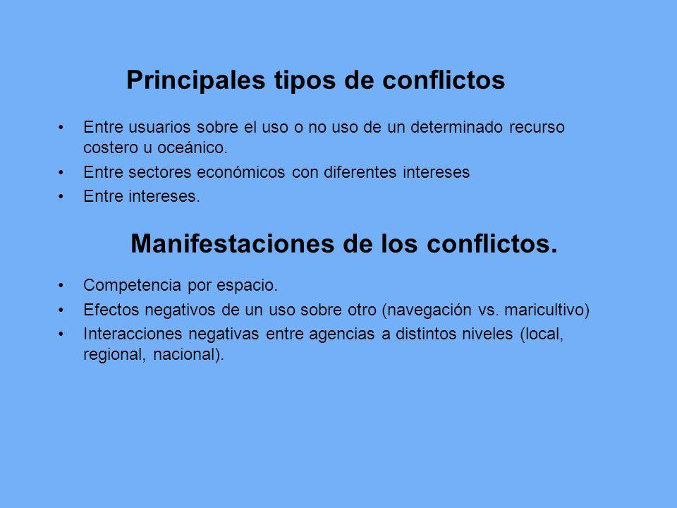 Principales tipos de conflictos