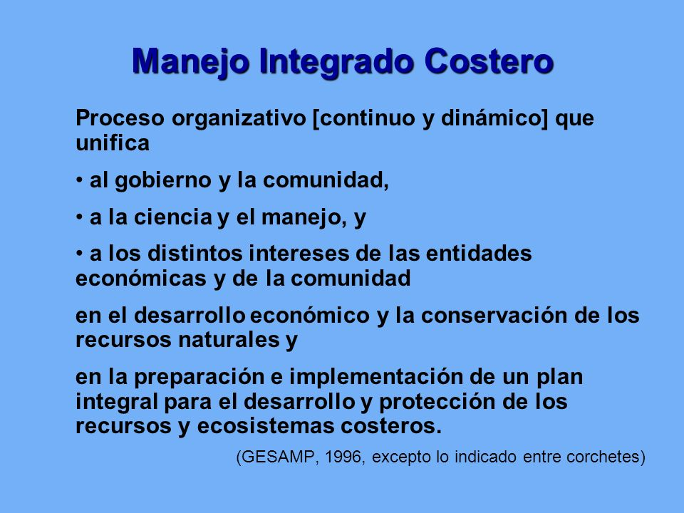 Manejo Integrado Costero