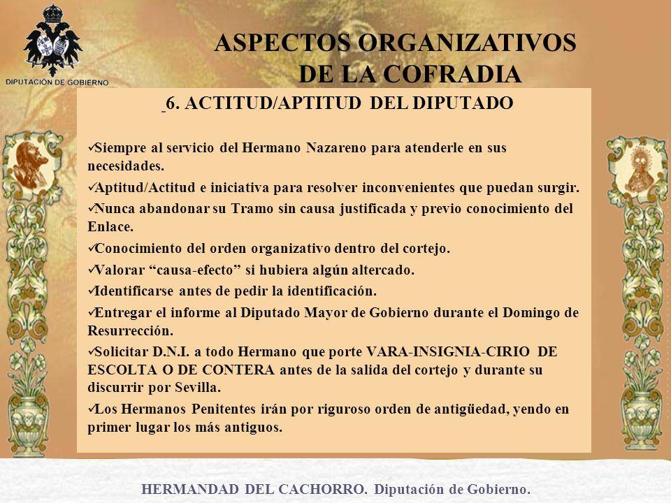 6. ACTITUD/APTITUD DEL DIPUTADO