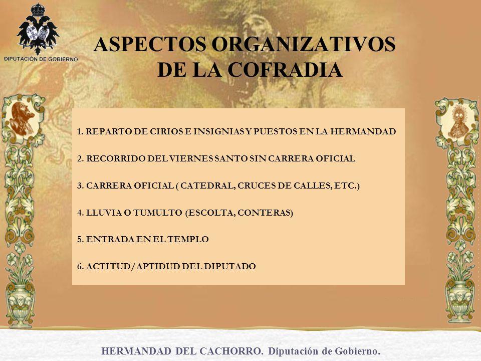 ASPECTOS ORGANIZATIVOS DE LA COFRADIA