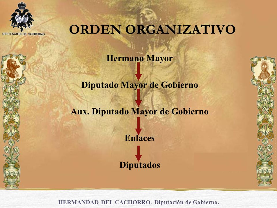 ORDEN ORGANIZATIVO Hermano Mayor Diputado Mayor de Gobierno