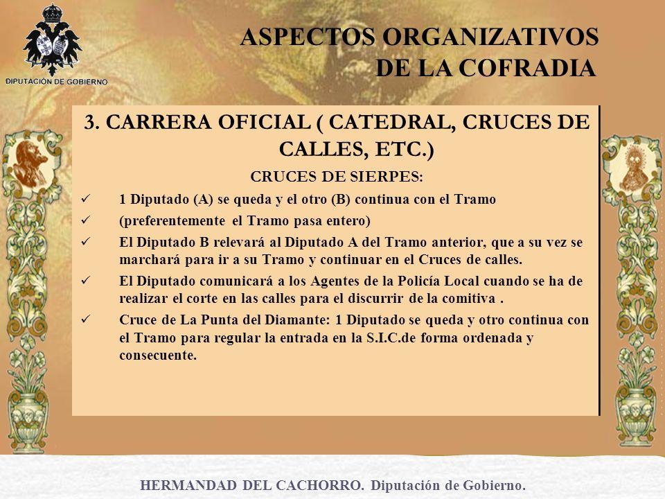 3. CARRERA OFICIAL ( CATEDRAL, CRUCES DE CALLES, ETC.)