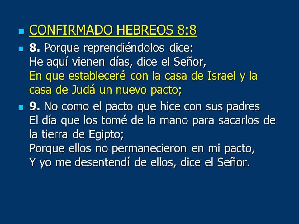 CONFIRMADO HEBREOS 8:8
