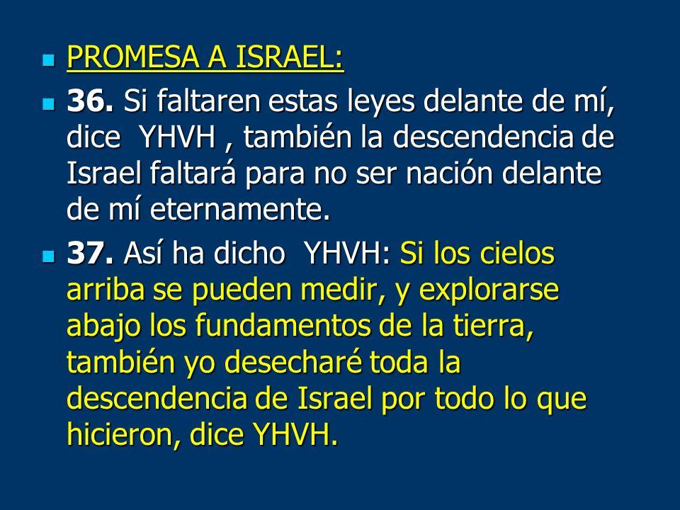 PROMESA A ISRAEL: