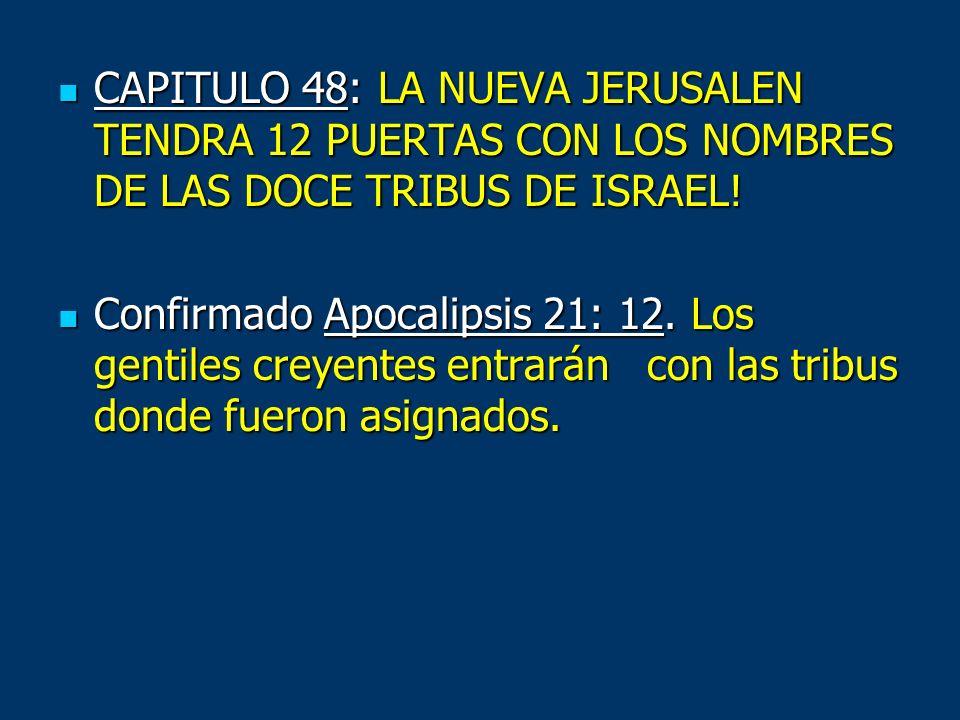 CAPITULO 48: LA NUEVA JERUSALEN TENDRA 12 PUERTAS CON LOS NOMBRES DE LAS DOCE TRIBUS DE ISRAEL!