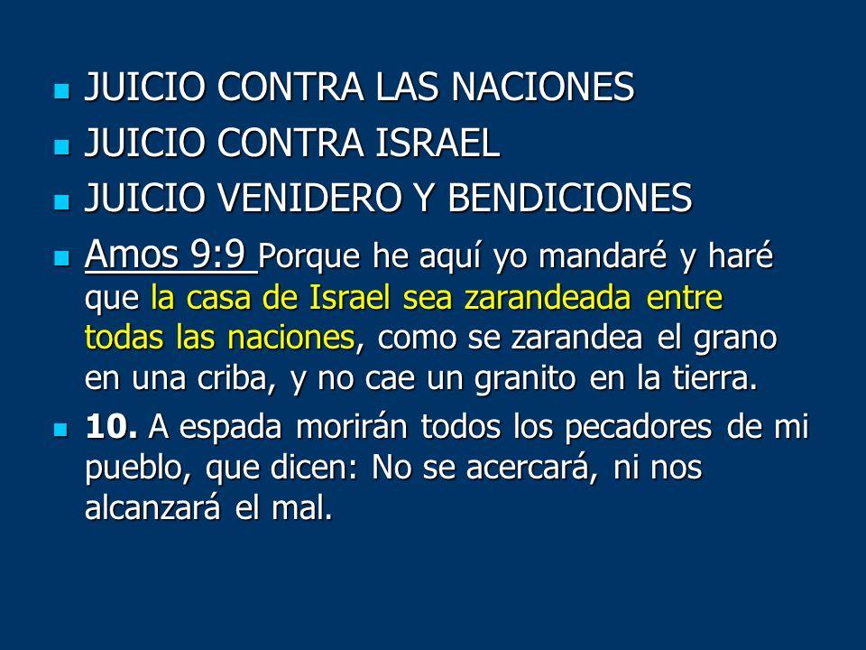 JUICIO CONTRA LAS NACIONES JUICIO CONTRA ISRAEL