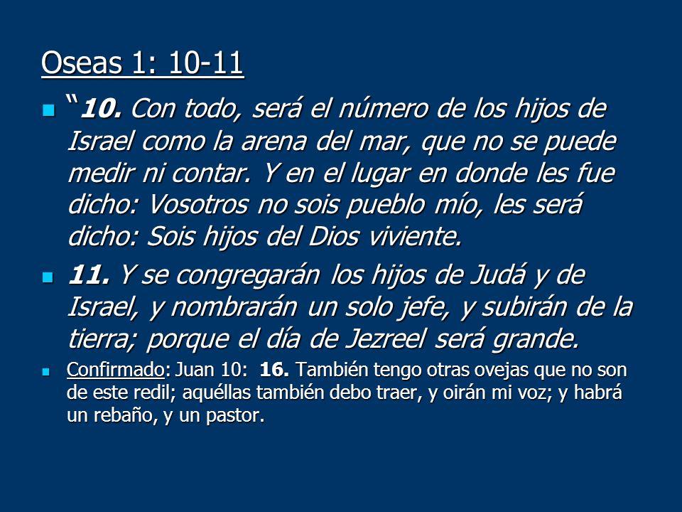 Oseas 1: 10-11