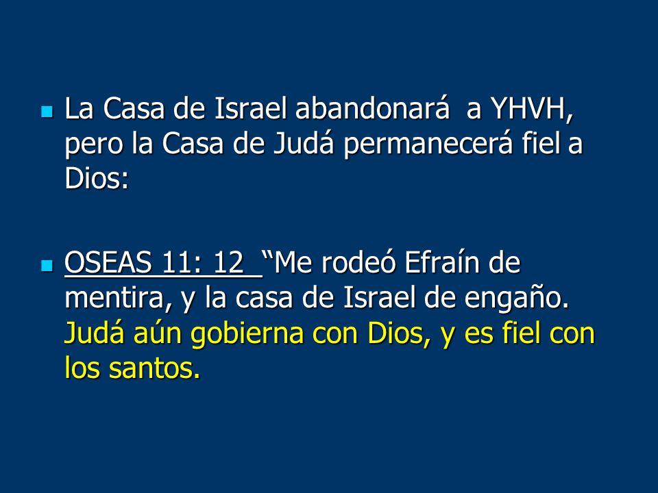 La Casa de Israel abandonará a YHVH, pero la Casa de Judá permanecerá fiel a Dios: