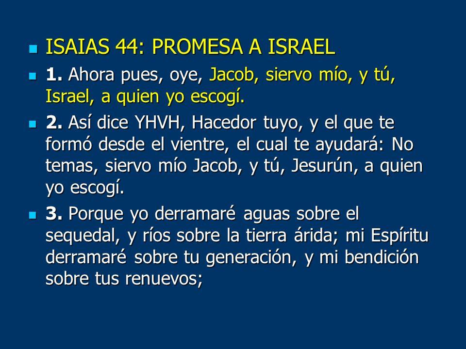 ISAIAS 44: PROMESA A ISRAEL