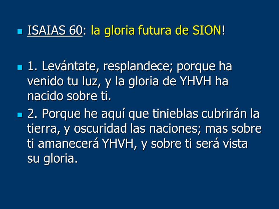 ISAIAS 60: la gloria futura de SION!