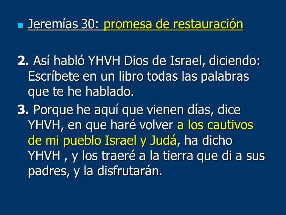 Jeremías 30: promesa de restauración