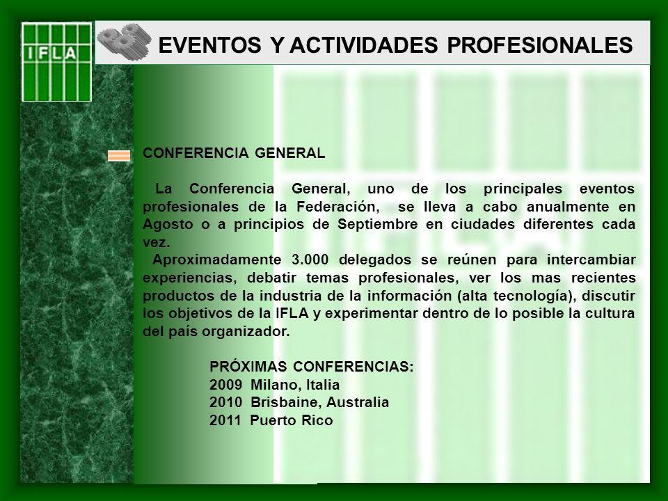 EVENTOS Y ACTIVIDADES PROFESIONALES