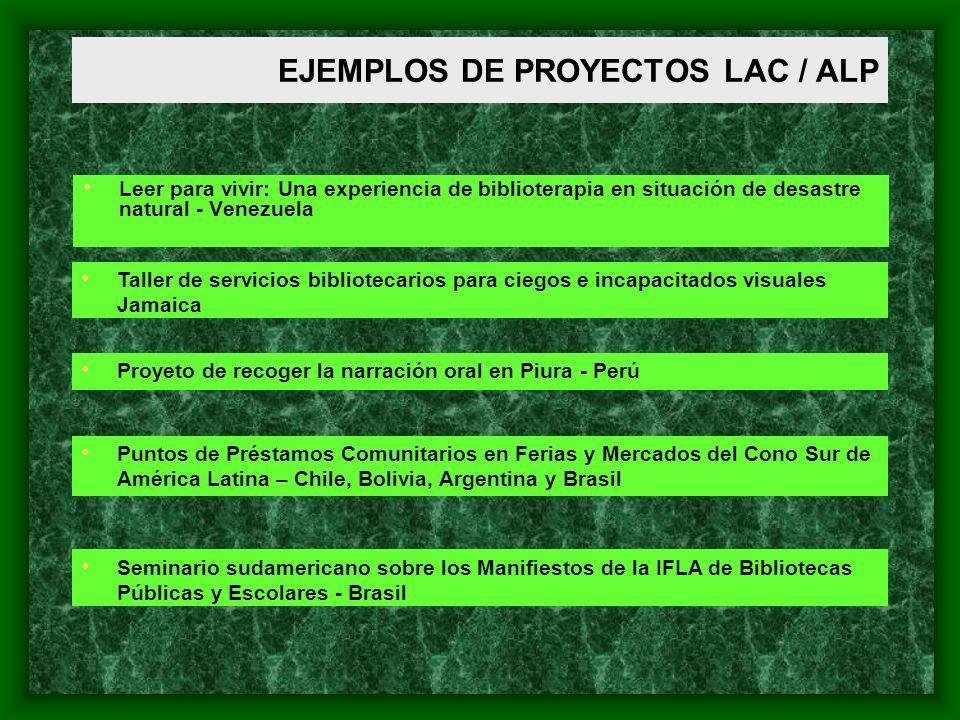EJEMPLOS DE PROYECTOS LAC / ALP