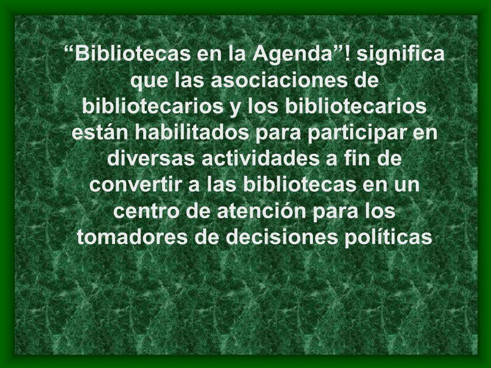 Bibliotecas en la Agenda