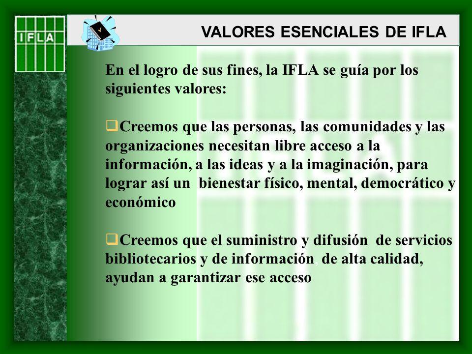 VALORES ESENCIALES DE IFLA