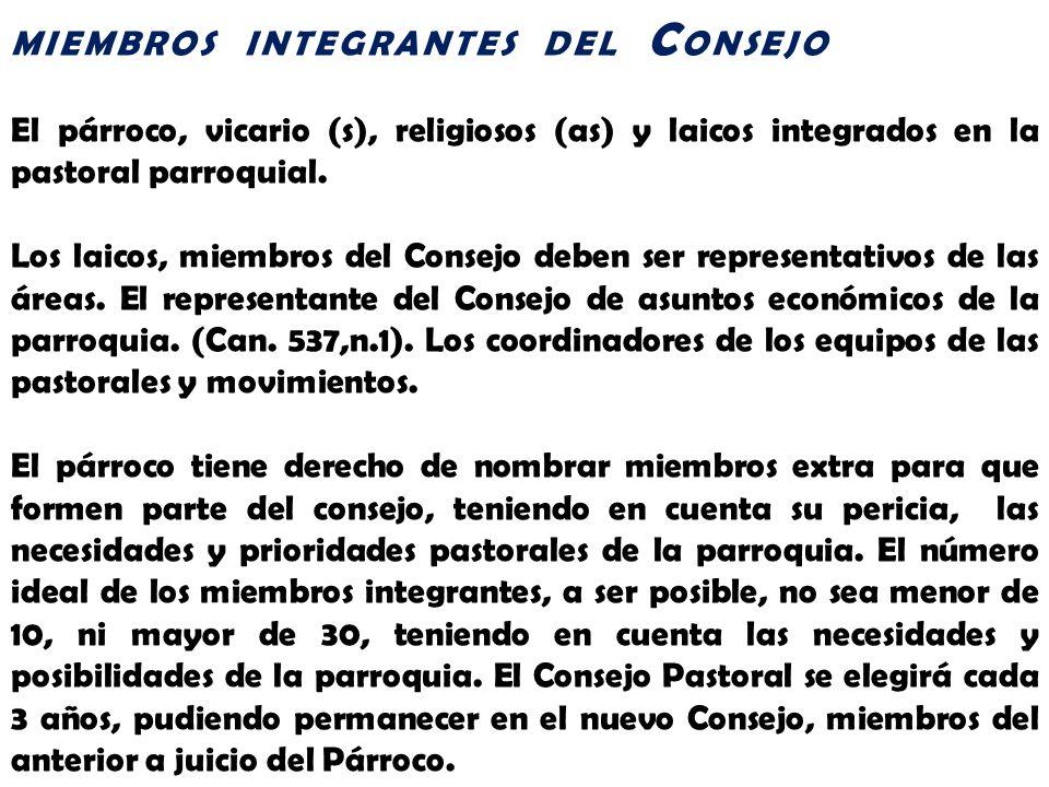 MIEMBROS INTEGRANTES DEL CONSEJO