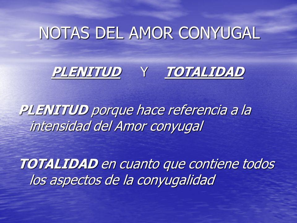 NOTAS DEL AMOR CONYUGAL