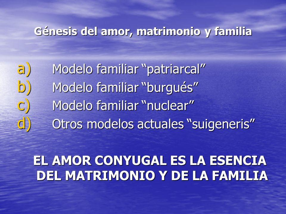 Génesis del amor, matrimonio y familia