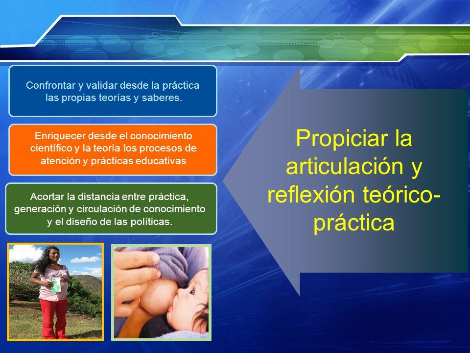 Propiciar la articulación y reflexión teórico-práctica