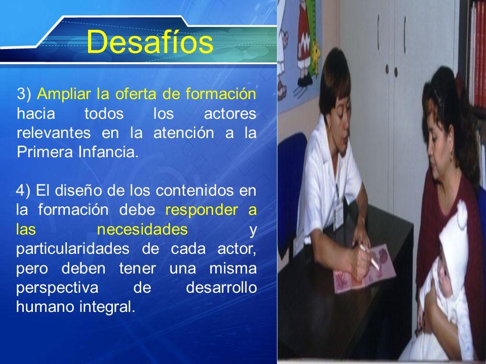 Desafíos 3) Ampliar la oferta de formación hacia todos los actores relevantes en la atención a la Primera Infancia.