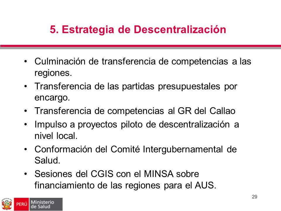 5. Estrategia de Descentralización