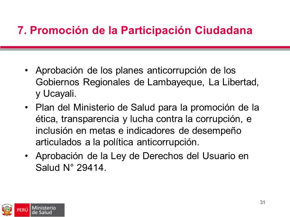7. Promoción de la Participación Ciudadana