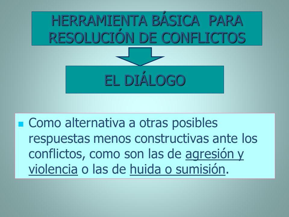 HERRAMIENTA BÁSICA PARA RESOLUCIÓN DE CONFLICTOS