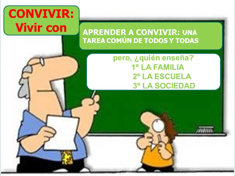 CONVIVIR: Vivir con APRENDER A CONVIVIR: UNA pero, ¿quién enseña
