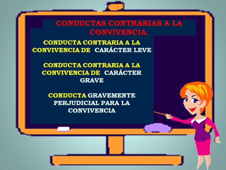 CONDUCTAS CONTRARIAS A LA CONVIVENCIA.