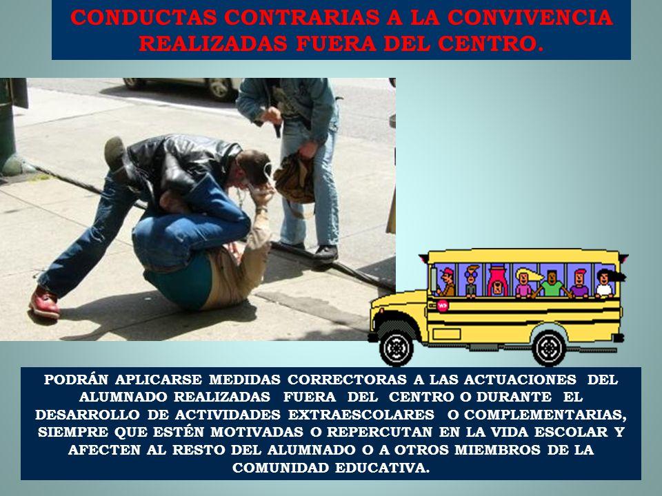 CONDUCTAS CONTRARIAS A LA CONVIVENCIA REALIZADAS FUERA DEL CENTRO.