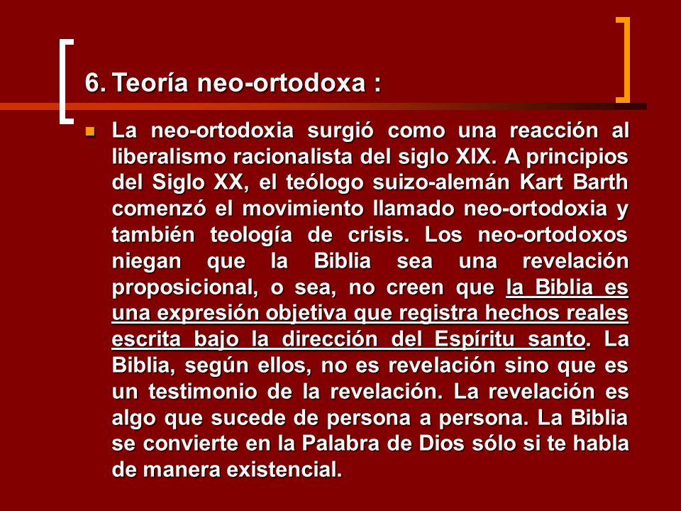 Teoría neo-ortodoxa :