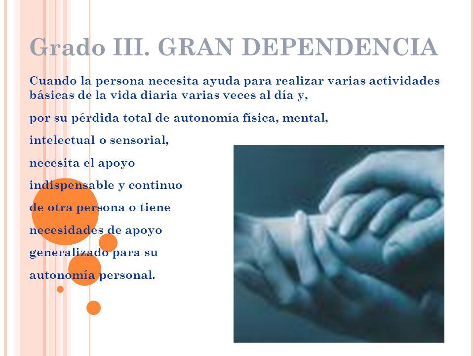 Grado III. GRAN DEPENDENCIA