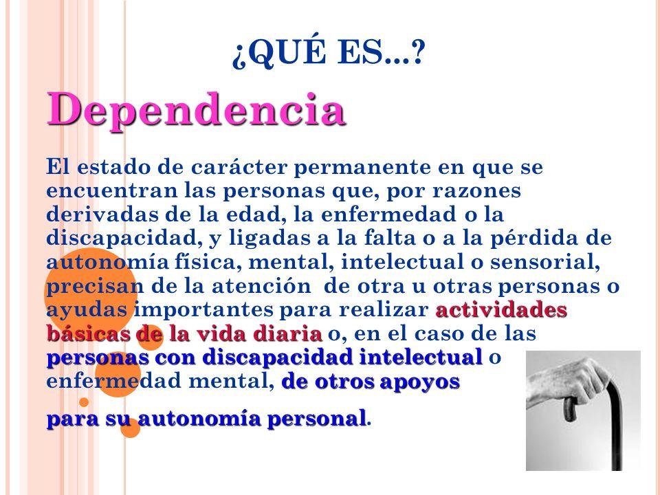 ¿QUÉ ES... Dependencia.