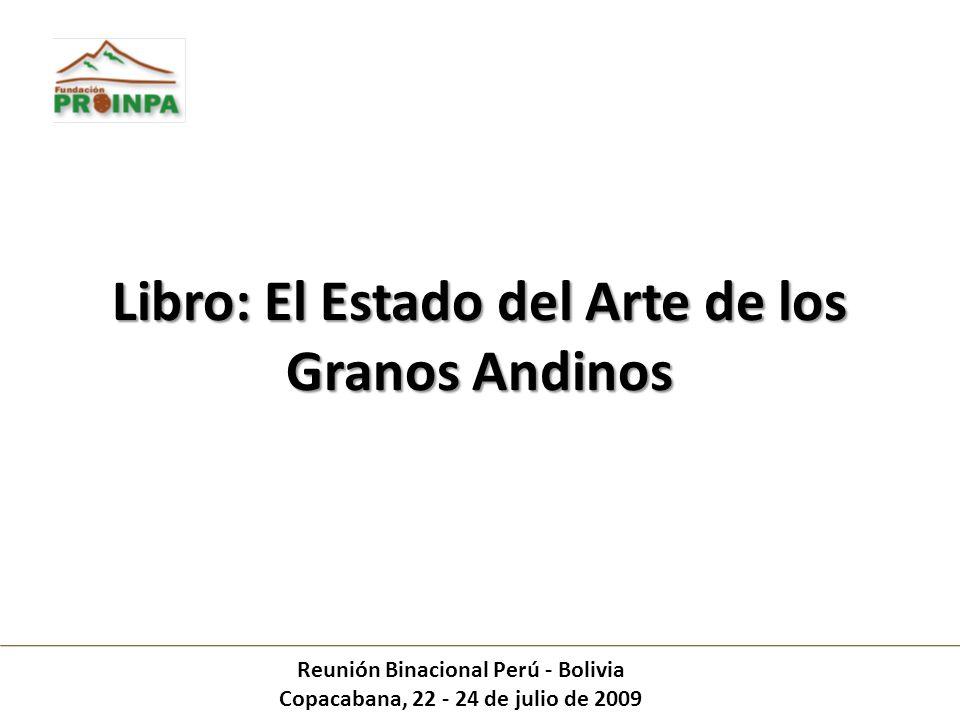 Libro: El Estado del Arte de los Granos Andinos
